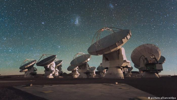 El súper telescopio ALMA, en Atacama, Chile