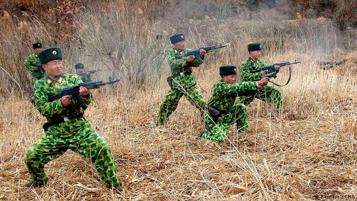 North Korean soldiers with weapons attend military training in an undisclosed location in this picture released by the North's official KCNA news agency in Pyongyang March 11, 2013. (Photo: REUTERS/KCNA)