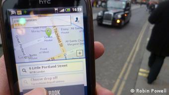 Βρίσκοντας ταξί με το κινητό