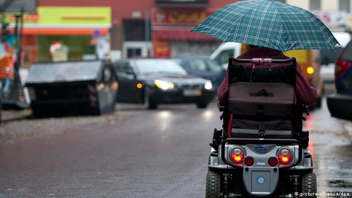 A person in a wheelchair in Germany