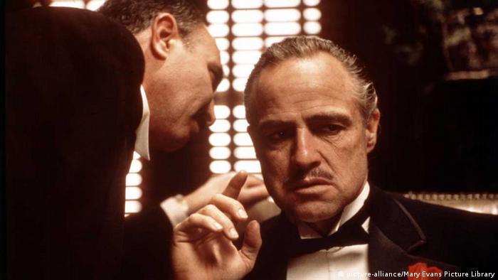 Marlon Brando in dem Film The Godfather