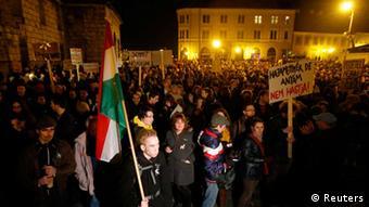 Ungarn Protest neue Verfassung