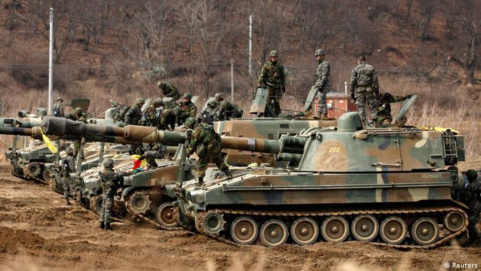 Südkorea Soldaten an Grenze zu Nordkorea (Reuters)