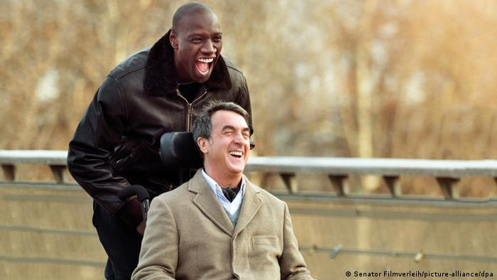 Omar Sy and Francois Cluzet in a scene from the film The Intouchables
