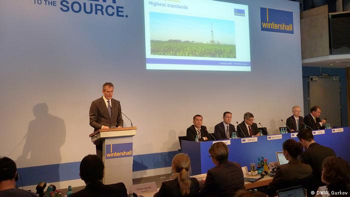 Глава Wintershall Райнер Зеле на пресс-конференции