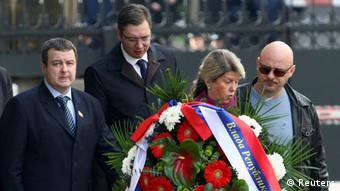 Beograd 2013. - Dačić (SPS) i Vučić (SNS) na godišnjici ubistva Đinđića