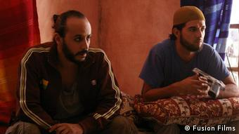 Main title: The disbelievers : When the art dialogues with the darkness forces Photo title: Esaam abou Ali and Omar Lotfi, Actors Place and, Date: Scene from The disbelievers Copyright\Photographer: Fusion Films