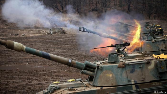 Ejercicios militares en Corea del Sur.