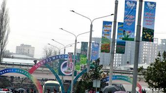خیابانهای شهر دوشنبه، پایتخت تاجیکستان در زمان برگزاری دور سوم جشن جهانی نوروز