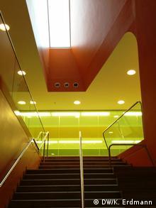 Innen optisch ansprechend: Das neue Sprach- und Bewegungszentrum (Foto: DW/Kathrin Erdmann)