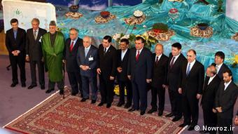 سران کشورهای همسابه ایران در جشن جهانی نوروز در تهران