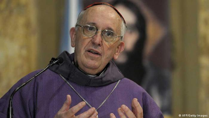 Then Argentine Archbishop Jorge Bergoglio speaks during a mass for Ash Wednesday, opening Lent at the Metropolitan Cathedral in Buenos Aires, Argentina. (Photo: JUAN MABROMATA/ AFP/Getty Images)