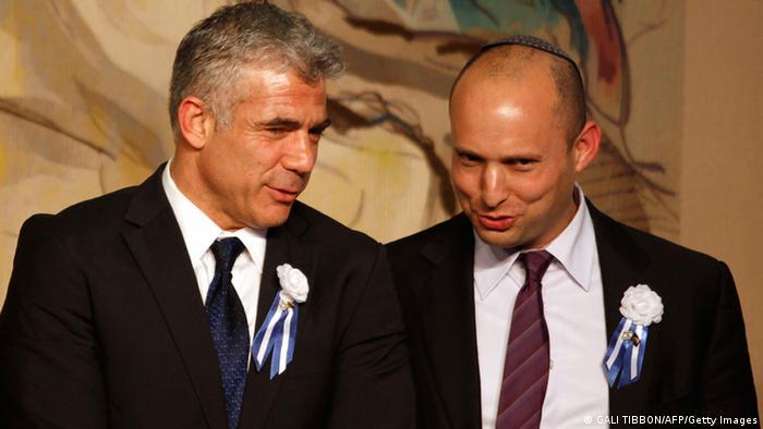 Israel Koalitionsregierung Lapid und Naftali Bennett