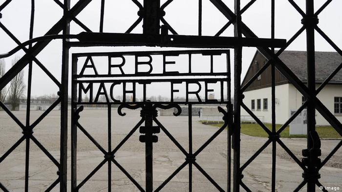 Concentration camp Dachau main entrance gate (imago)
