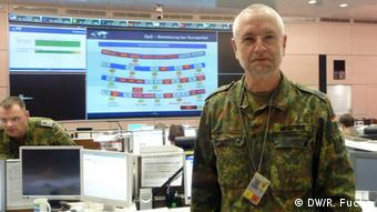 Lt. Colonel Dietmar Brückner in the operations room Photo: DW/ Richard Fuchs