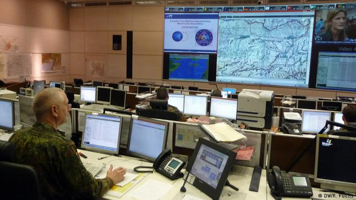 The operations room at the Geltow command center Photo: DW/ Richard Fuchs