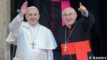 Papst Franziskus am Tag nach der Papstwahl in Santa Maria Maggiore