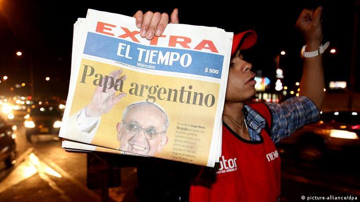 Papst Franziskus Reaktionen Argentinien (picture-alliance/dpa)