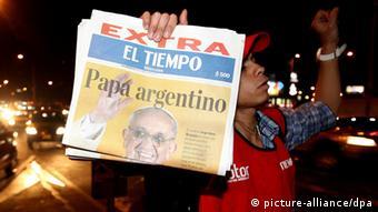واکنش مردم آرژانتین به انتخاب کاردینال شهر بوئنوس آیرس به مقام رهبری کاتولیکهای جهان