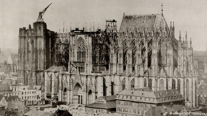 Historic picture of the Cologne Cathedral, 1853 (photo: ullstein bild - histopics)