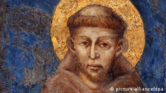Fresco of Cimabue, from 1278 in Sacro Convento in Assisi Photo: EPA/ALESSANDRO DI MEO +++(c) dpa - Bildfunk+++