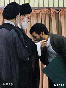 Vereidigung des iranischen Staatspräsidenten Mahmoud Ahmadinejad am 03.08.2005