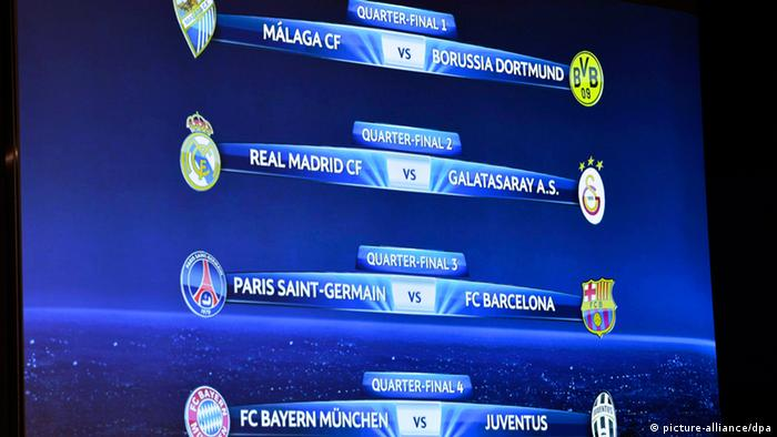 Champions League Quarterfinal Draw Sports German Football And