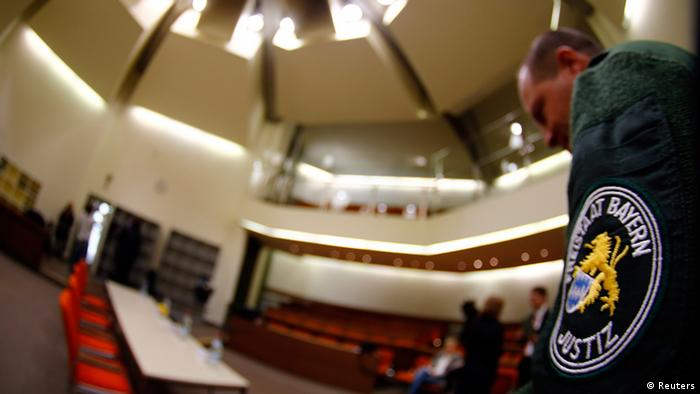The courtroom where the trial against Beate Zschäpe will take place (Photo: Michael Dalder/Reuters)