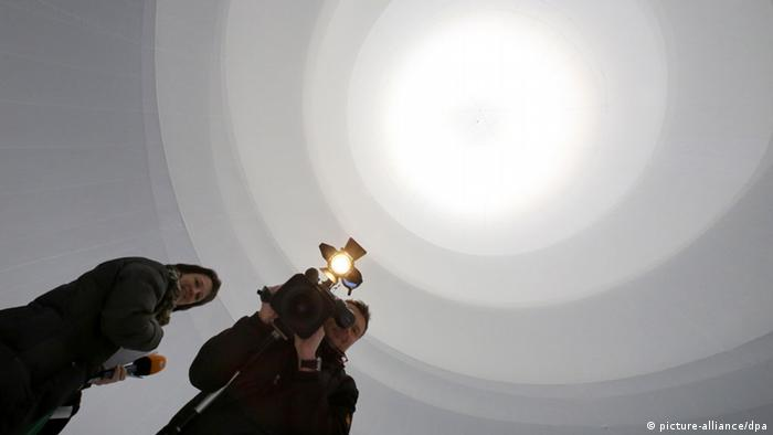 Christo Installation in Gasometer Oberhausen