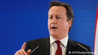 British Prime Minister David Cameron JOHN THYS/AFP/Getty Images)