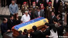 Hugo Chavez Leichnam im Militärmuseum Caracas