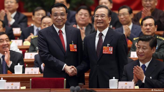 Li Keqiang neuer Ministerpräsident China mit Wen Jiabao