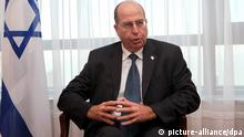 epa03026047 Israeli Deputy Prime Minister, Moshe Yaalon, speaks in an interview in Montevideo, on 06 December 2011 Yaalon said that Iran is developing, with the connivance of Venezuela, a 'terrorist infrastructure' in Latin America to attack US, Israel and their allies. EPA/IVAN FRANCO +++(c) dpa - Bildfunk+++