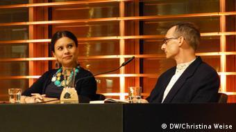 Os autores Carola Saavedra e Luis P. Krausz participam da lit.Cologne.