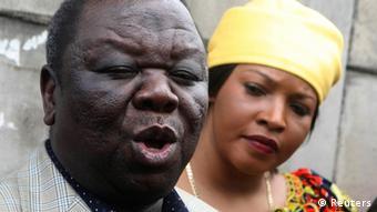 Zimbabwe's Prime Minister Morgan Tsvangirai and his wife Elizabeth REUTERS/Philimon Bulawayo