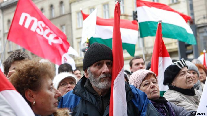 Hungarian protestors, including a new Together 2014 movement, have demonstrated vociferously against the new constitutional amendments (Photo: Bernadett Szabo/REUTERS)