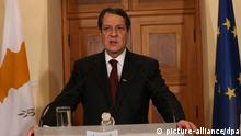 Zyperns Präsident Nikos Anastasiades am 17.03.2013