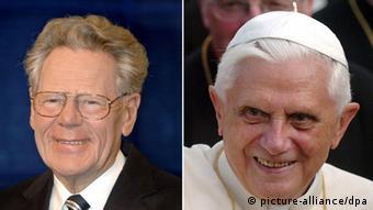 Kombobild Theologe Hans Küng und Papst Benedikt XVI