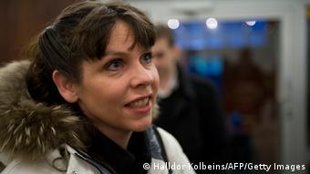 Birgitta Jonsdottir (c) HALLDOR KOLBEINS/AFP/Getty Images)