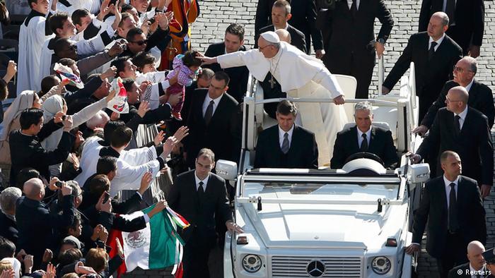 Papst Franziskus Amtseinführung
