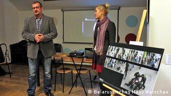 Дмитрий Бородко на презентации в Белорусском доме в Варшаве