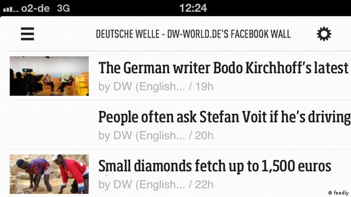 A screenshot of feedly.
