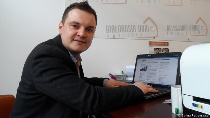 Direktor des Belarussischen Informationen Hauses in Warschau Ales Zarembiuk