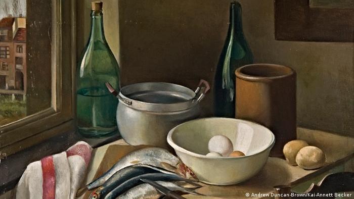 Anne Ratkowski's painting Kitchen Still Life with Fish