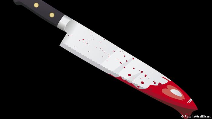 A symbolic image of a knife covered with blood (Fotolia/GrafiStart)