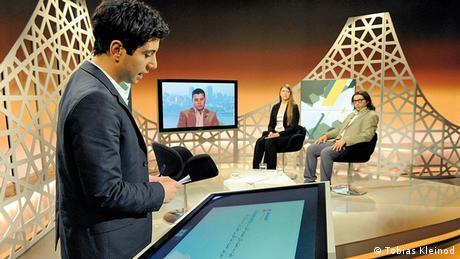 TV Arabisch Shababtalk: Moderator Jafaar Abdul-Karim