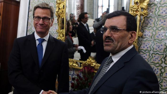 Tunesien: Außenminister Guido Westerwelle trifft Regierungschef Ali Larayedh (Foto: picture-alliance/dpa)