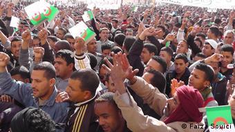 Protest Arbeitslosigkeit Algerien