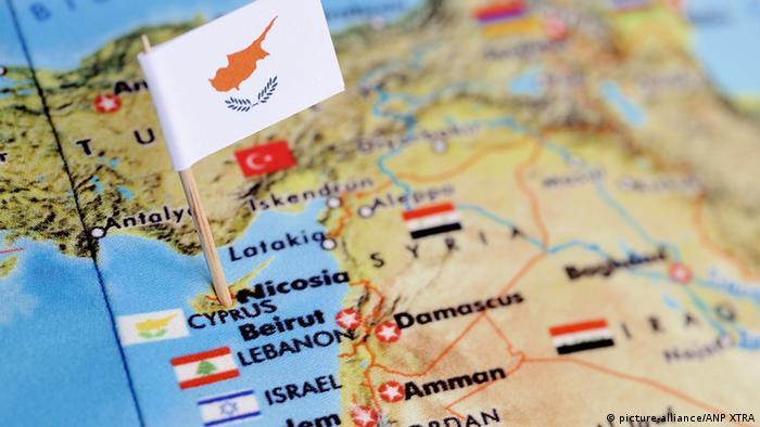 Zypern auf einer Weltkarte Foto: Lex van Lieshout (ANP XTRA)