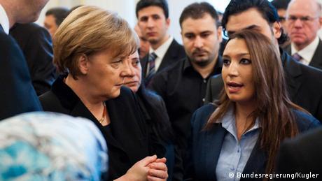 Angela Merkel and Semiya Simsek